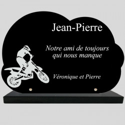 Plaque Funéraire Nuage - Moto
