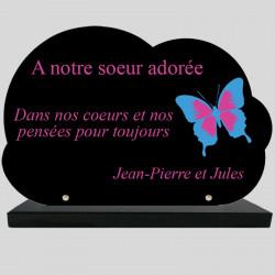 Plaque Funéraire Nuage -...