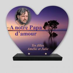 Plaque funéraire Cœur...