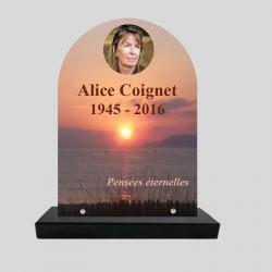 Plaque funéraire stèle-...