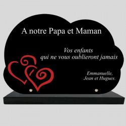 Plaque Funéraire Nuage - 2...